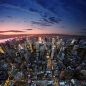 Manhattan Sunset mural wallpaper thumbnail