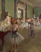 The Dancing Class, c.1873-76 (oil on canvas) wallpaper mural thumbnail