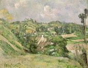 Auvers-sur-Oise, seen from the Val Harme, 1879-82 (oil on canvas) mural wallpaper thumbnail