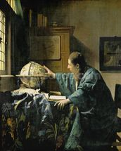 The Astronomer, 1668 (oil on canvas) wallpaper mural thumbnail