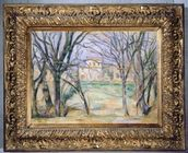 Trees and houses, 1885-86 (oil on canvas) (see also 393802) mural wallpaper thumbnail