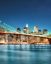 Brooklyn Bridge at Night wall mural thumbnail