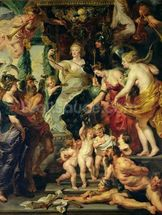 The Felicity of the Regency, 1621-25 (oil on canvas) wall mural thumbnail