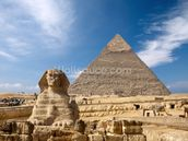 Great Pyramid at Giza wall mural thumbnail