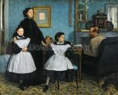 The Bellelli Family, 1858-67 (oil on canvas) mural wallpaper thumbnail
