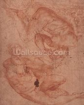 Studies of Nudes (red chalk on paper) wallpaper mural thumbnail