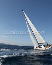 Sailing on the Adriatic Sea mural wallpaper thumbnail
