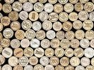 Wine Corks Stacked wall mural thumbnail