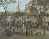Pleasure Gardens at Montmartre, 1886 (oil on canvas) mural wallpaper thumbnail