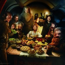 Supper at Bag End, The Hobbit wall mural
