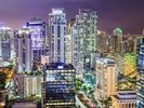 Miami Cityscape at Night wall mural thumbnail