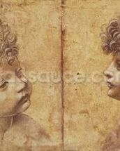 Study of a childs head (red chalk heightened with white on paper) mural wallpaper thumbnail