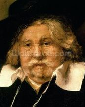 Detail of a Portrait of an old man, 1667 (oil on canvas) (see 42501) mural wallpaper thumbnail