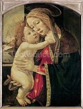 The Virgin and Child, c.1500 (oil on panel) wallpaper mural thumbnail