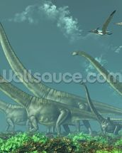 Mamenchisaurus Dinosaur Travels wall mural thumbnail