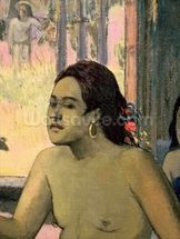 Eiaha Ohipa or Tahitians in a Room, 1896 (oil on canvas) (detail of 47617) mural wallpaper thumbnail