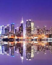 Manhattan Reflections wallpaper mural thumbnail