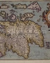 Map of Scotland, Miliaria Scotia wall mural thumbnail
