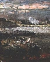 The Opening of Waterloo Bridge, 1819 (sketch) (see also 4473) wallpaper mural thumbnail