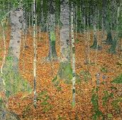 The Birch Wood, 1903 (oil on canvas) wall mural thumbnail