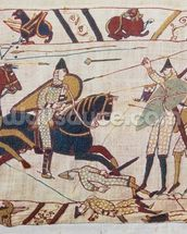 Bayeux tapestry - Norman invasion of England mural wallpaper thumbnail