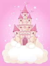 Fairy Castle wallpaper mural thumbnail