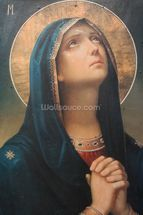 Antique religious icon wall mural thumbnail