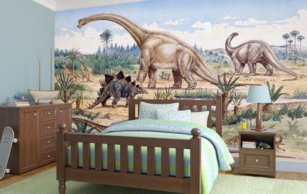Dinosaur wallpaper wall murals wallsauce for Dinosaur mural wallpaper