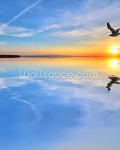 Blue Lake Reflections wallpaper mural thumbnail