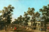 Vauxhall Gardens: the Grand Walk, c.1751 mural wallpaper thumbnail