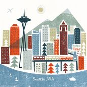Colourful Seattle mural wallpaper thumbnail