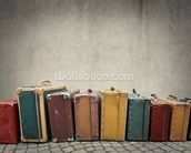 Suitcases wall mural thumbnail