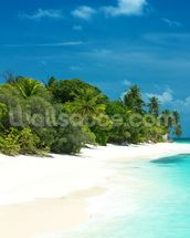 Beautiful Maldives Beach wallpaper mural thumbnail