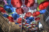 London Umbrella Art mural wallpaper thumbnail