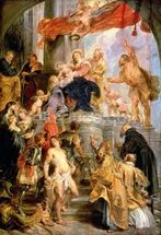 Enthroned Madonna with Child, Encircled by Saints, c.1627-28 (oil on canvas) wallpaper mural thumbnail