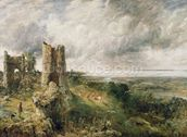 Hadleigh Castle, 1829 (oil on canvas) wallpaper mural thumbnail