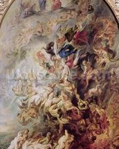 Small Last Judgement, c.1620 (oil on panel) wallpaper mural thumbnail