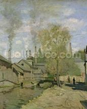 The Stream of Robec at Rouen, 1872 (oil on canvas) mural wallpaper thumbnail