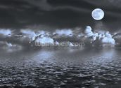Moon Seascape wall mural thumbnail