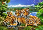 Loving Tigers wall mural thumbnail