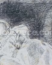 A baby (possibly Maria Louisa Constable) 1819 (pencil on paper) wallpaper mural thumbnail