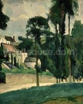 The Road at Pontoise, 1875 (oil on canvas) wallpaper mural thumbnail
