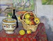 Still Life with Tureen, c.1877 (oil on canvas) mural wallpaper thumbnail