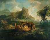 Leopards at Play, c.1763-8 wallpaper mural thumbnail