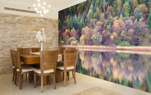 Dining room wall mural ideas for Dining room mural wallpaper