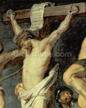Christ Between the Two Thieves, 1620 (oil on panel) (detail of 154020) wall mural thumbnail