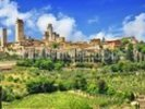 Beautiful San Gimignano, Tuscany wall mural thumbnail