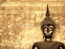 Buddha on Background wall mural thumbnail