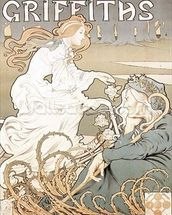 Cycling poster by Tairiet, (c.1898) wallpaper mural thumbnail
