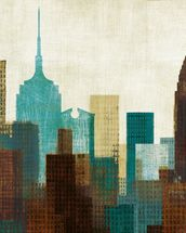 Summer in the City II wall mural thumbnail